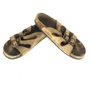 Birkenstock Size 38 Three Strap Cork Sandals
